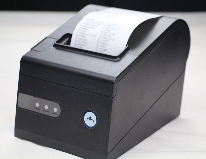 LAN / USB / RS-232 3 Inch 80mm Thermal Printer Black Color For Pos Terminal